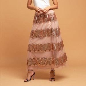 NWT Eva Franco Anthropologie Maxi Skirt